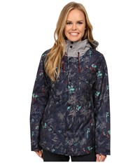 Oakley Charlie 2 Biozone Insulated Jacket Navy Floral Women's Coat