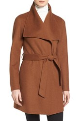 T Tahari Women's 'Ella' Belted Double Face Wool Blend Wrap Coat Vicuna