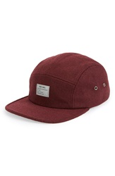 Obey 'Premier' Five Panel Cap Burgundy