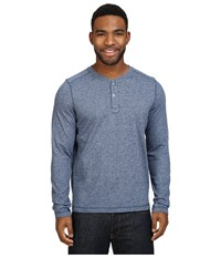 The North Face Long Sleeve Copperwood Henley Shady Blue Heather Men's Clothing