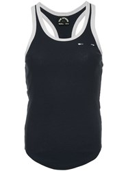 The Upside Ribbed Racer Tank Top Blue