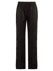 Versace Satin Knit Track Pants Black