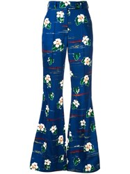 Racil Floral Print Trousers Blue