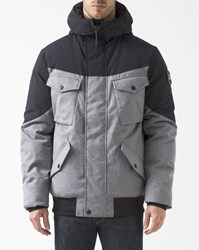 Element Black And Beige Black Sky Quay Parka With Patch Pockets
