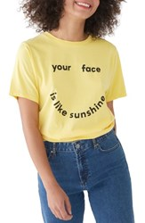 Ban.Do Ban. Do Your Face Is Like Sunshine Classic Tee Butter Yellow