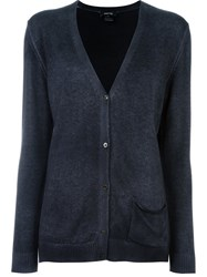 Avant Toi V Neck Cardigan Grey