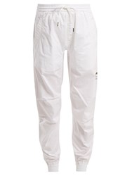 Mhi Logo Embroidered Cotton Track Pants White