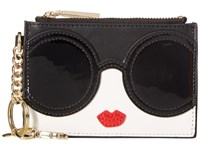 Alice Olivia Stace Face Zip Coin Pouch Key Charm Multi