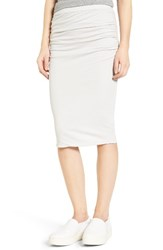 James Perse Women's Shirred Stretch Cotton Skirt