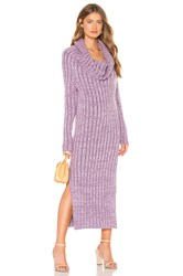 Indah Cappuccino Cowl Neck Dress Lavender