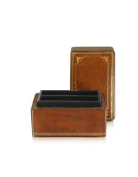 Forzieri Small Leather Goods Genuine Leather Card Box
