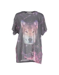 Wildfox Couture Wildfox Topwear T Shirts Women Steel Grey