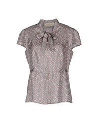 Thomas Rath Short Sleeve Shirts Dove Grey
