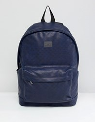 Peter Werth Tully Texture Rucksack Blue