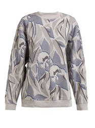 Adidas By Stella Mccartney Printed Crew Neck Sweatshirt Grey Print