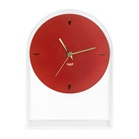 Kartell Air Du Temps Clock Crystal Red