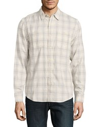 Lucky Brand Long Sleeve Cotton Casual Shirt Natural