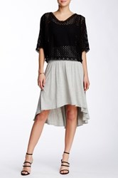 Weston Wear Izzy Banded Hi Lo Skirt Gray