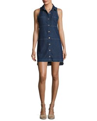 7 For All Mankind Sleeveless Dress W Step Hem Indigo