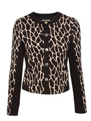 Gerry Weber Animal Print Blazer Beige Black