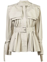 Proenza Schouler Belted Trench Jacket Grey