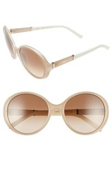 Chloe Women's Chloe 'Daisy' 58Mm Round Sunglasses Light Turtledove