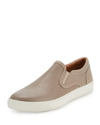 Vince Ace Perforated Leather Skate Sneaker Wood Smoke