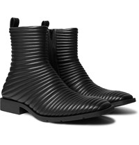 Balenciaga Quilted Leather Boots Black