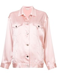 Fleur Du Mal Classic Fitted Jacket Pink And Purple
