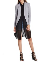 Bcbgeneration Welt Pocket Crepe Tuxedo Blazer Grey