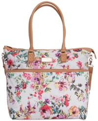 Jessica Simpson French Floral Tote Cream