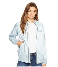 Members Only Washed Satin Ex Boyfriend Jacket Wash Blue Women's Coat