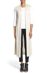 Women's Eileen Fisher Lightweight Merino Knit Maxi Vest
