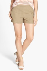 Ace Delivery Linen Blend Shorts Beige