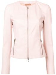 Drome Zipped Fitted Jacket Pink