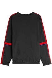 Public School Cotton Sweatshirt With Velvet Black