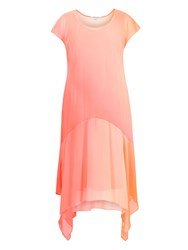 Chesca Ombre Chiffon Dress Orange