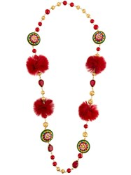 Dolce And Gabbana Decorative Necklace Red