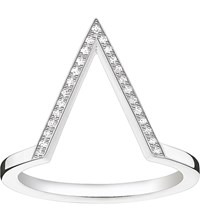 Thomas Sabo Triangle Sterling Silver Diamond Ring