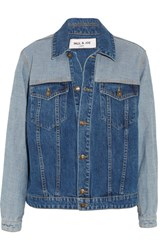 Paul And Joe Patchwork Denim Jacket Dark Denim