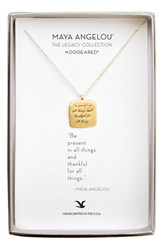 Dogeared Women's 'Legacy Collection Be Present' Pendant Necklace Gold