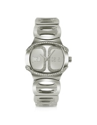 Just Cavalli Born Jc Silver Dial Bracelet Watch