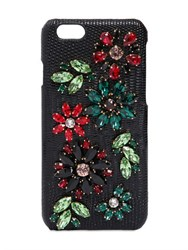 Dolce And Gabbana Embellished Leather Iphone 6 Case