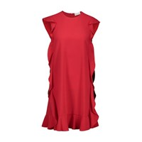 Red Valentino Ruffle Short Dress Lacca Red