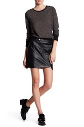 Bb Dakota Tudar Faux Leather Mini Skirt Black