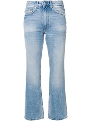 Mauro Grifoni Cropped Flared Jeans Blue