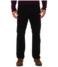 Ag Adriano Goldschmied The Graduate Tailored Straight Sueded Stretch Sateen Super Black Men's Casual Pants