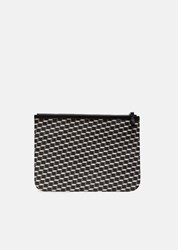 Pierre Hardy X Large Maroquinerie Canvas Cube Pouch Black White Black