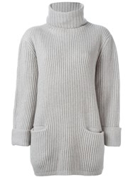 Liska Ribbed Roll Neck Jumper Nude And Neutrals