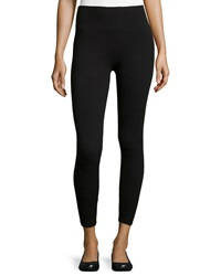 Yummie Tummie Terry Loop Fleece Lined Shaping Leggings Black